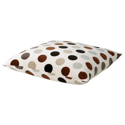 STOCKHOLM Cushion, white/dotted brown, 55x55 cm