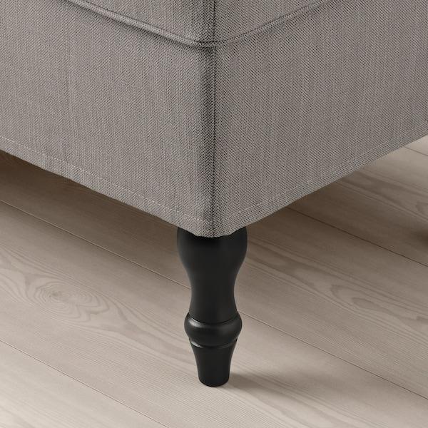 STOCKSUND Bench, Nolhaga grey-beige/black/wood