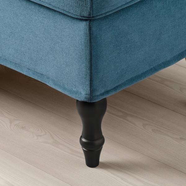 STOCKSUND bench Ljungen blue/black/wood 144 cm 49 cm 47 cm