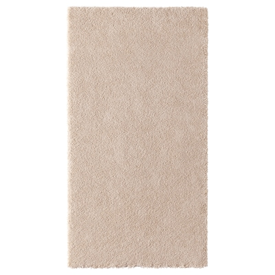 STOENSE Rug, low pile, off-white, 80x150 cm