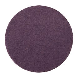 STOENSE rug, low pile, purple