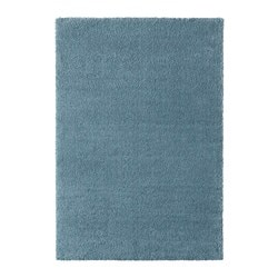 STOENSE rug, low pile, medium blue