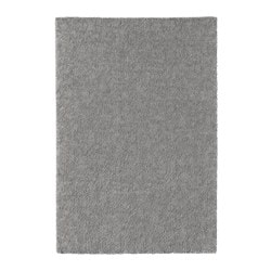 STOENSE rug, low pile, medium grey