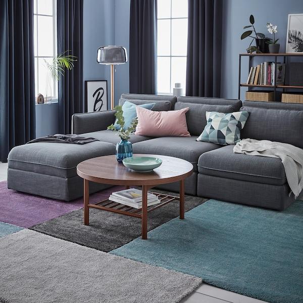STOENSE rug, low pile medium blue 195 cm 133 cm 18 mm 2.59 m² 2560 g/m² 1490 g/m² 15 mm