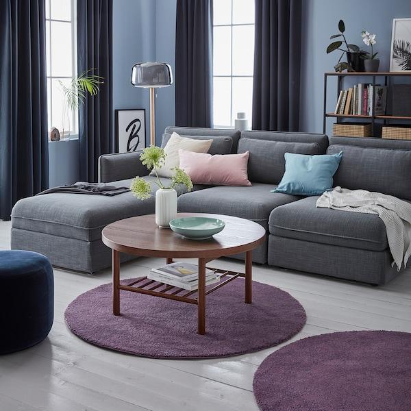 STOENSE rug, low pile purple 130 cm 18 mm 1.33 m² 2560 g/m² 1490 g/m² 15 mm