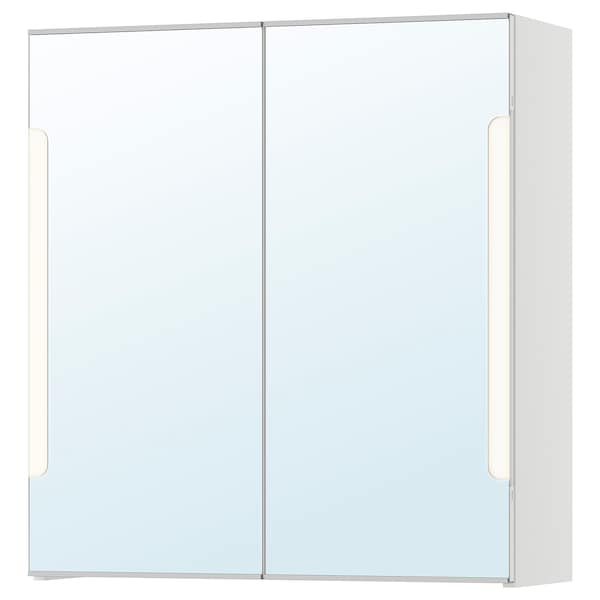 STORJORM mirror cab 2 door/built-in lighting white 60 cm 21 cm 64 cm