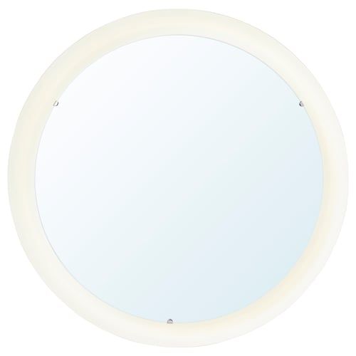 STORJORM mirror with integrated lighting white 47 cm