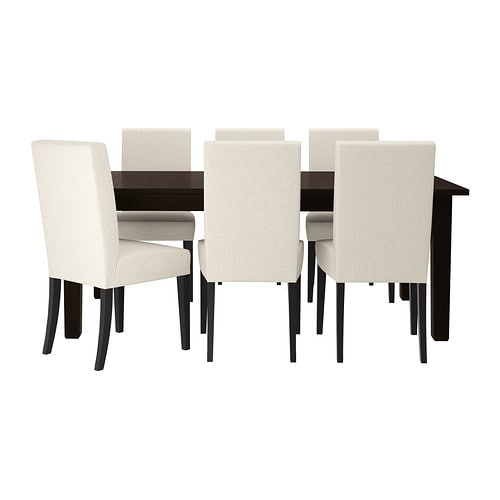 STORNÄS / HENRIKSDAL Table and 6 chairs IKEA It's quick and easy to change the size of the table to suit your different needs.