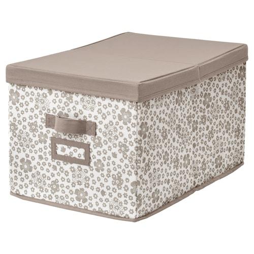 STORSTABBE Box with lid, beige, 35x50x30 cm