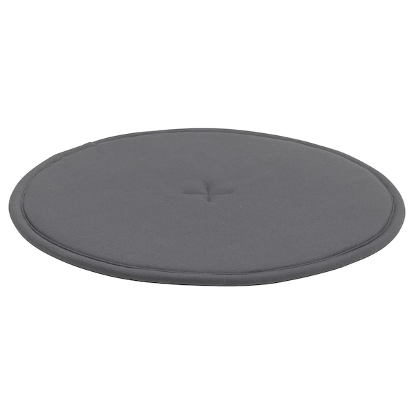 STRÅFLY chair pad dark grey 36 cm 36 cm 1.2 cm 100 g