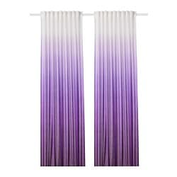 STRANDTRIFT curtains, 1 pair, lilac, white
