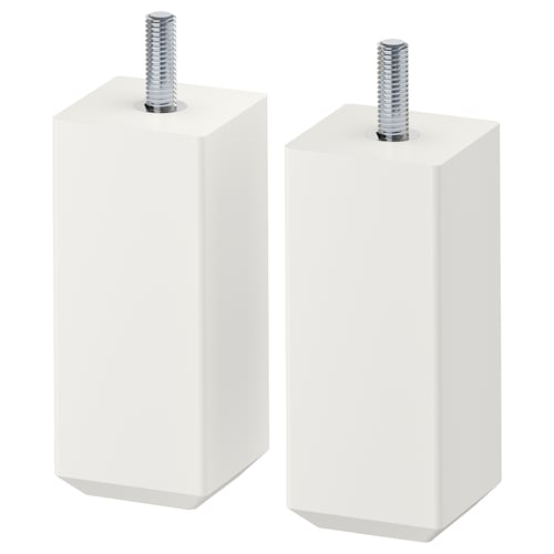 STUBBARP leg white 44 mm 44 mm 100 mm 10 cm 11 cm 2 pack