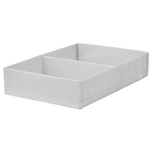 STUK Box with compartments, white/grey, 34x51x10 cm