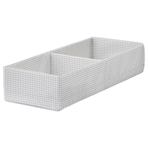 STUK box with compartments white/grey 20 cm 51 cm 10 cm