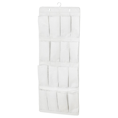 STUK hanging shoe organiser w 16 pockets white/grey 51 cm 140 cm 115 cm