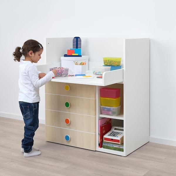 STUVA / FÖLJA changing table with 4 drawers white/birch 90 cm 79 cm 102 cm