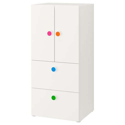 STUVA / FÖLJA storage combination w doors/drawers white 60 cm 50 cm 128 cm