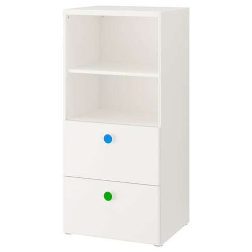 STUVA / FÖLJA storage combination white 60 cm 50 cm 128 cm