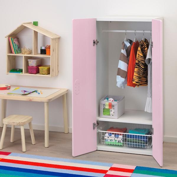 STUVA / FRITIDS Wardrobe, white/light pink, 60x50x128 cm