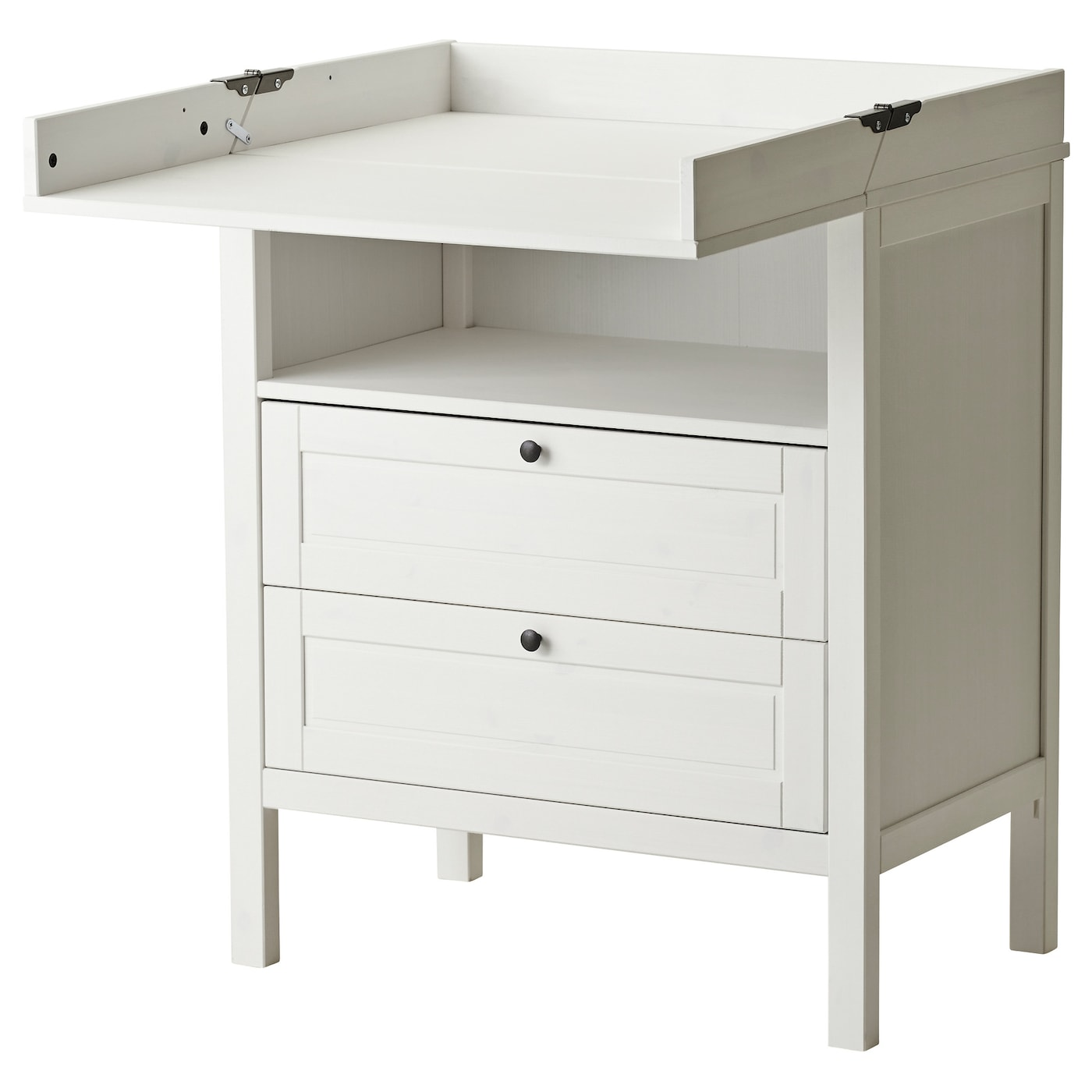 Mini Table A Langer sundvik changing table/chest of drawers - white