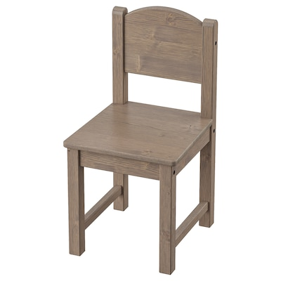 SUNDVIK Children's chair, grey-brown