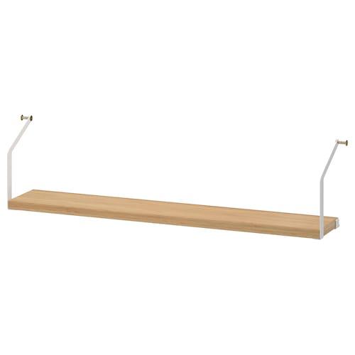SVALNÄS shelf bamboo 81.0 cm 15.0 cm 2.0 cm 12 kg