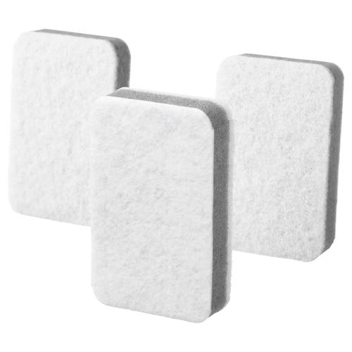 SVAMPIG sponge grey-white 11 cm 7 cm 3 pack