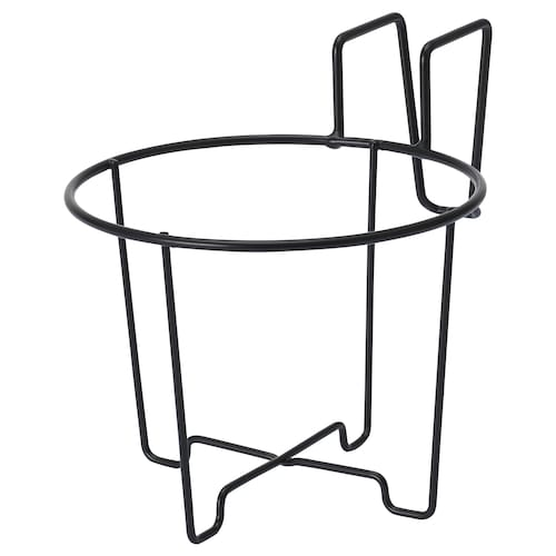 SVARTPEPPAR plant pot holder in/outdoor/black 16 cm 12 cm 16 cm