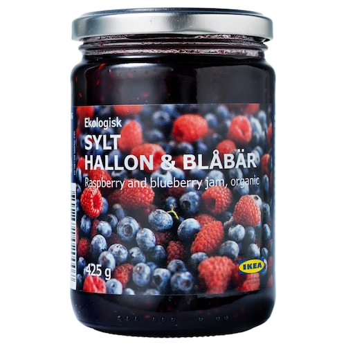 SYLT HALLON & BLÅBÄR rasp- and blueberry jam organic 425 g