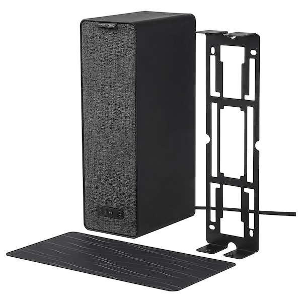 SYMFONISK WiFi speaker with bracket, black, 31x10x15 cm