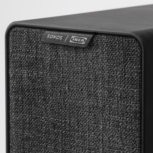 SYMFONISK WiFi speaker with hook, black, 31x10x15 cm