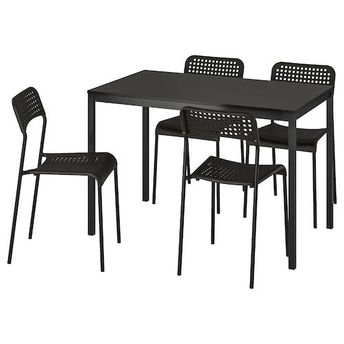 TÄRENDÖ / ADDE Table and 4 chairs, black/black, 110x67 cm