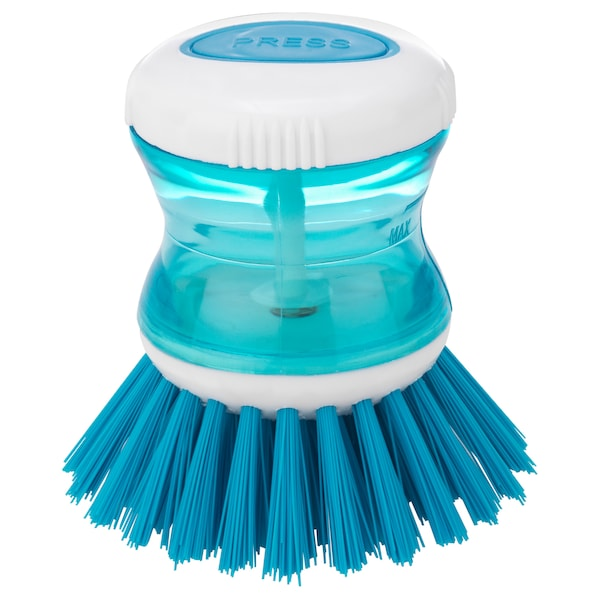 TÅRTSMET Dish-washing brush with dispenser, blue