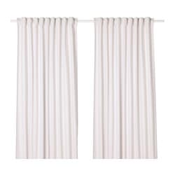 TIBAST curtains, 1 pair, beige