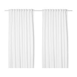 TIBAST curtains, 1 pair, white