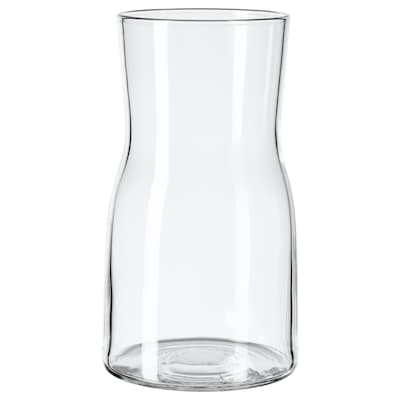 TIDVATTEN Vase, clear glass, 17 cm