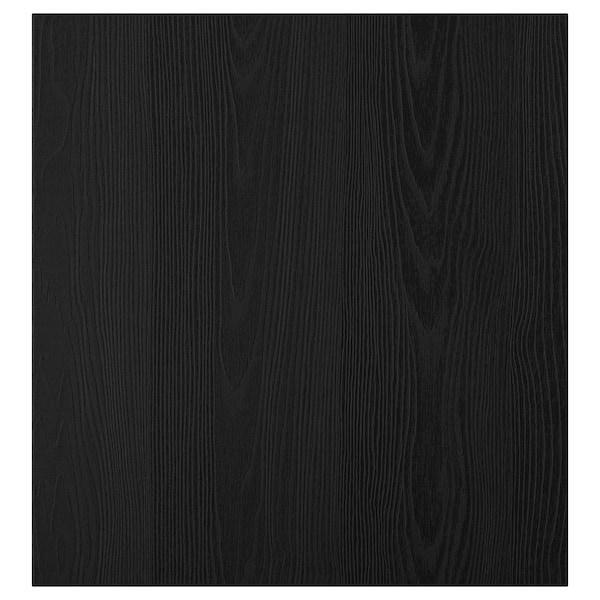 TIMMERVIKEN door black 60 cm 64 cm 2.0 cm