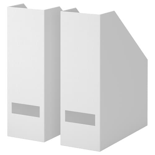TJENA magazine file white 10 cm 25 cm 30 cm 2 pack