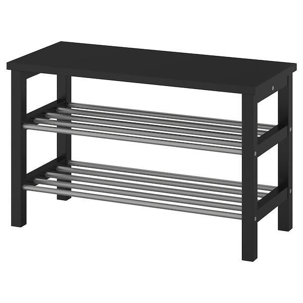 TJUSIG bench with shoe storage black 81 cm 34 cm 50 cm