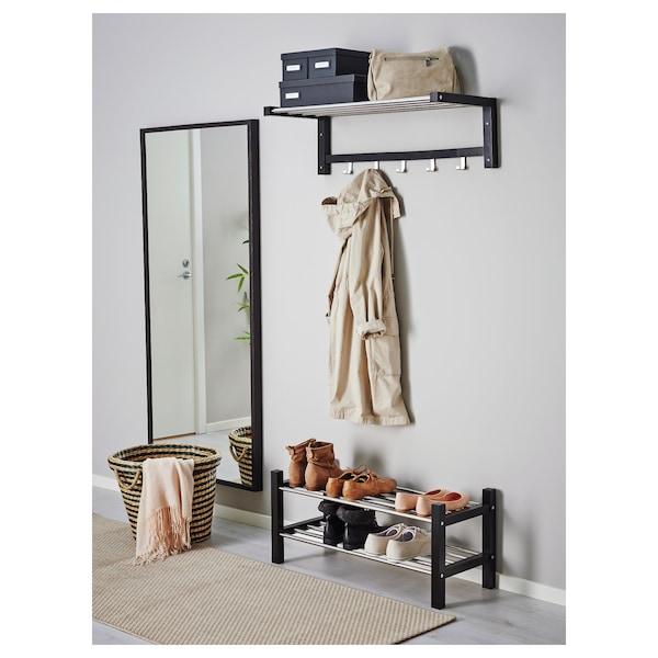 TJUSIG Shoe rack, black, 79 cm