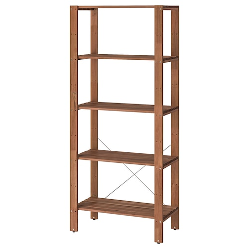 TORDH shelving unit, outdoor brown stained 70.0 cm 35.0 cm 161 cm