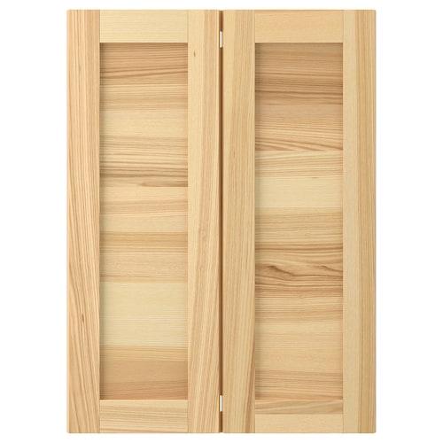 TORHAMN 2-p door f corner base cabinet set natural ash 25.4 cm 70.0 cm 25.0 cm 69.7 cm 2.0 cm