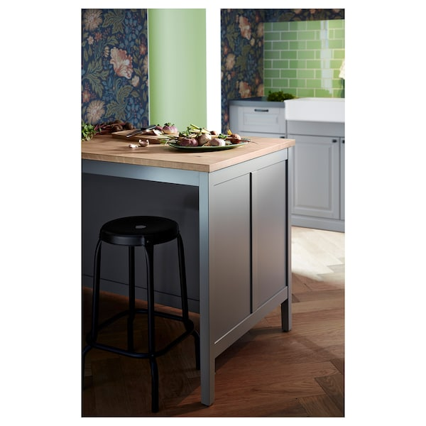 TORNVIKEN kitchen island grey/oak 126 cm 77 cm 90 cm