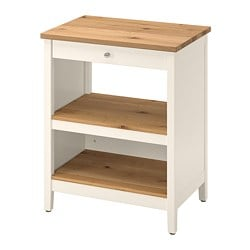 TORNVIKEN kitchen island, off-white, oak