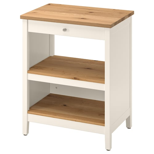 TORNVIKEN kitchen island off-white/oak 72 cm 52 cm 90 cm