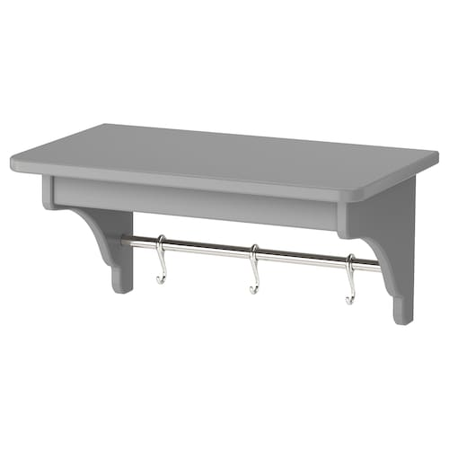 TORNVIKEN wall shelf grey 50 cm 30 cm 24 cm