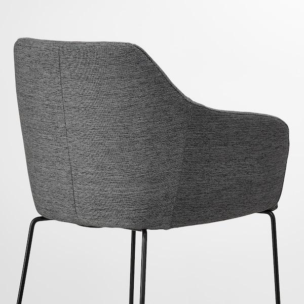TOSSBERG chair metal black/grey 100 kg 60 cm 56 cm 82 cm 42 cm 40 cm 49 cm