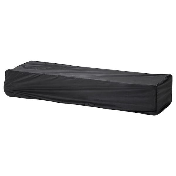 TOSTERÖ Cover for sun lounger, black, 200x60 cm