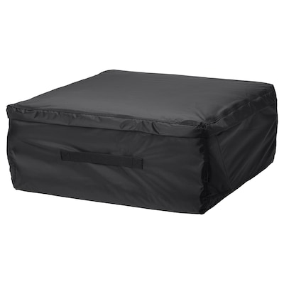 TOSTERÖ Storage bag for cushions, black, 62x62 cm