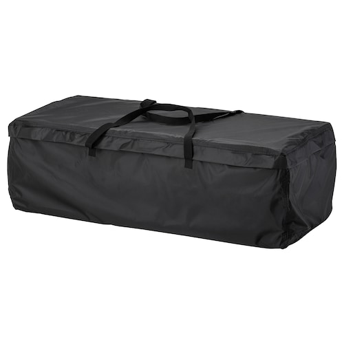 TOSTERÖ storage bag for cushions black 116 cm 49 cm 35 cm